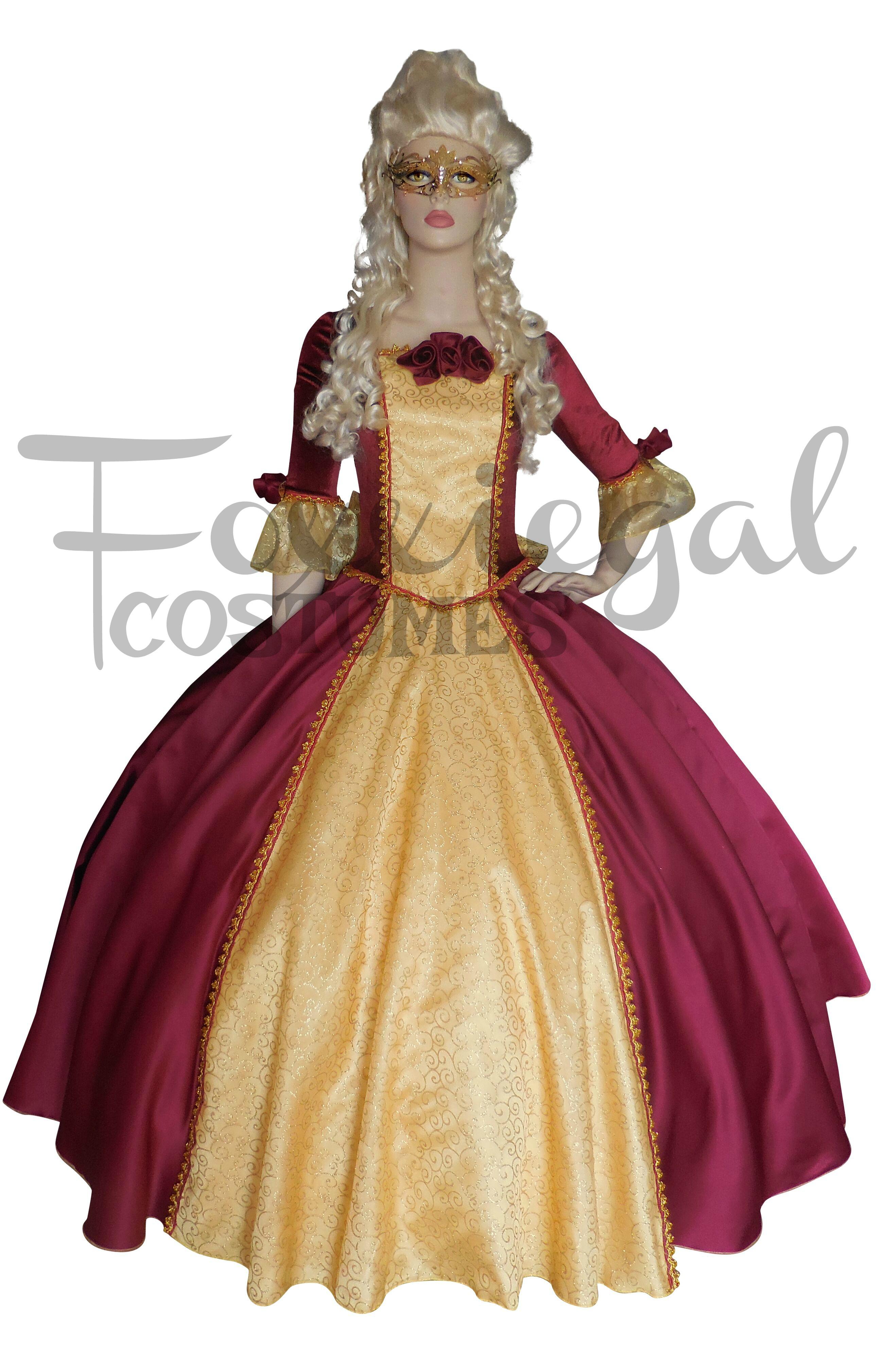 71046719e043 Masquerade Ball (Maroon) Costume 24-26 - Foxxiegal Costumes